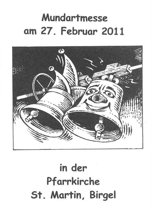 2011 - Deckblatt des Liedheftes zur Mundartmesse