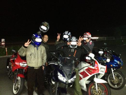寒い日は雪見大福。元ネタはバイクと!参照