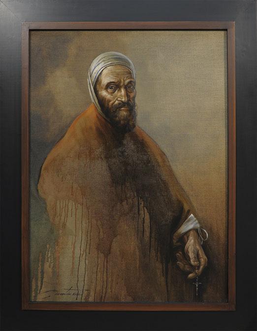 Conversation avec Michelangelo Buonarroti - huile sur toile marouflée 73X100