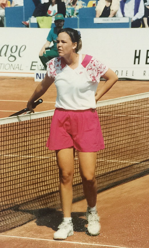 Lindsay Davenport, retired 2010, won 3 Grand Slam Titles, 38 WTA Titles, Olympia Gold 1996, Member Tennis Hall of Fame, Picture taken at Ladies Open Lucerne 1993