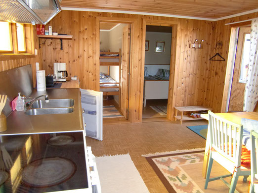 Wohn- / Esszimmer mit Küche