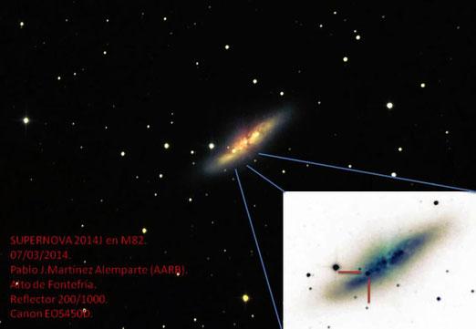 Supernova 2014J en M82.
