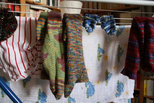 Hey meine Socken, die hatte ich doch Vorgestern noch an!