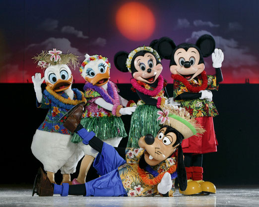 Mickey Minnie Donald Daisy et Pluto