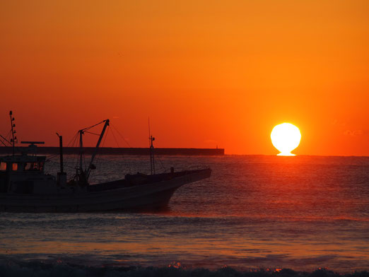10月20日日の出ウオーク豊浦海岸