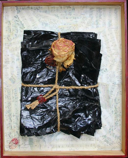 """""""Relique"""", technique mixte, 51 x  40,5 cm"""