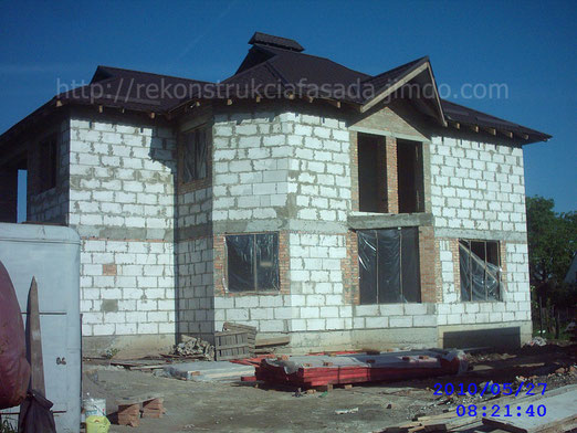 вид здания перед началом проведения фасадных работ. г. Умань