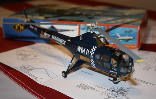 Sikorsky H5 fonderie miniature