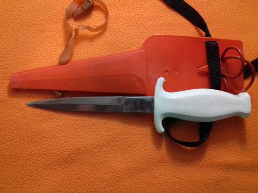 Cuchillo de buceo Copino modelo 109, Mallorca, años 60
