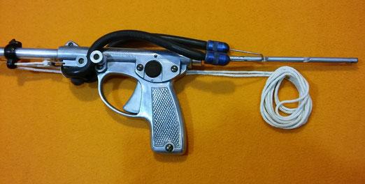 Fusil Nemrod modelo Pistolete, accionado por goma, 1950.