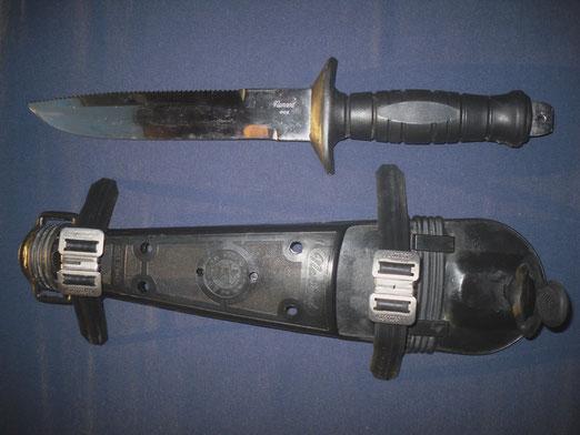 Cuchillo de buceo Nemrod modelo Marina, años 70