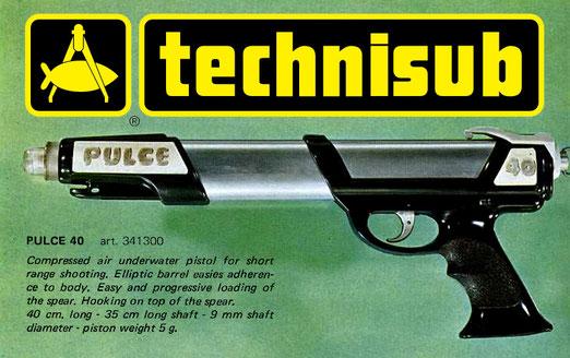 Fusil Technisub Pulce 40 fabricado por la spirotechnique.