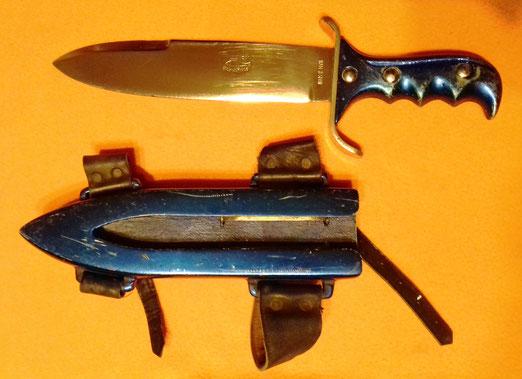 Machete de guerra nemrod, especial para la defensa contra tiburones, 1960