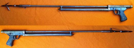 Fusil de pesca submaria realizado en la fabrica de armas Santa Barbara, La Coruña 1945