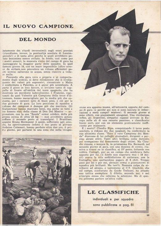 Mondo somerso, ofrecido por Mauro Meloni. (Italia)