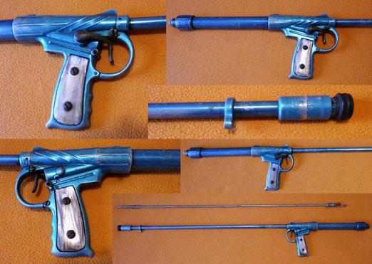 Copia de fusil Nemrod Fragata con cachas de nacar,