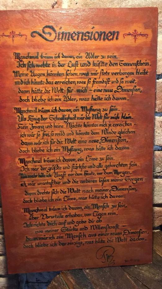 Petra Mettke/Gedicht Dimensionen vom 26.11.1979