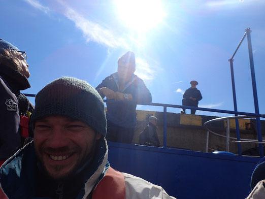 Happy Crew und russisches Empfangskomitee in Arkhangelsk.