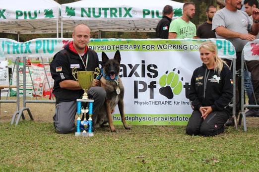 Gewinner Mondio Kat 1 in Meran 2014 Dirk Meyering und sein Hund Garm