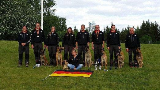 Hundephysiotherapeutin der deutschen Mannschaft auf der diesjährigen FMBB 2014 in Finnland