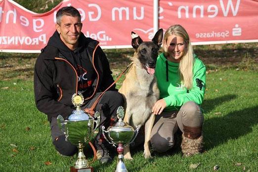 Knut Fuchs und sein Orcan vom Further Moor - ich bin sehr stolz seine Hundephysio sein zu dürfen