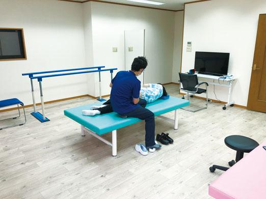 京都脳梗塞リハビリセンターのリハビリテーションの室