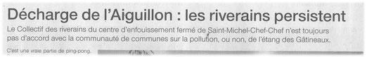 Ouest France 20 Nov. 2012