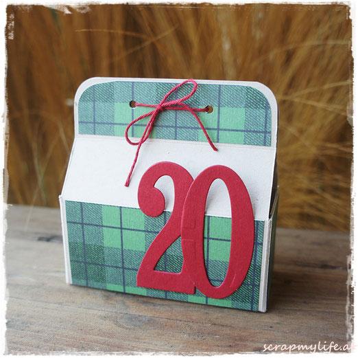 stampin up - weihnachten - DP gemütliche weihnachten - large numbers framelits