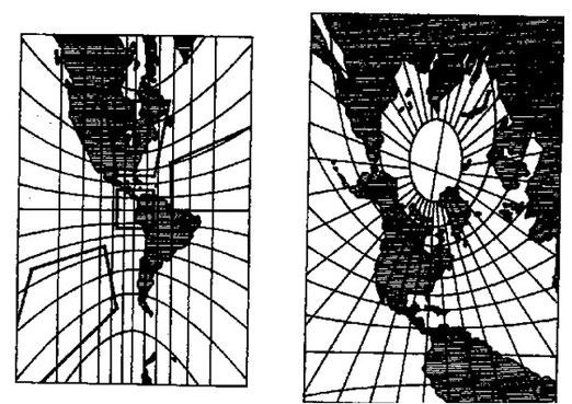 Figura 9.24 - Carta Gnomonica Equatoriale e Orizzontale