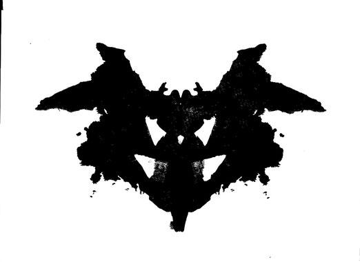 Test du Rorschach, 1ere planche, test de personnalité pratiqué lors d'un bilan psychologique.