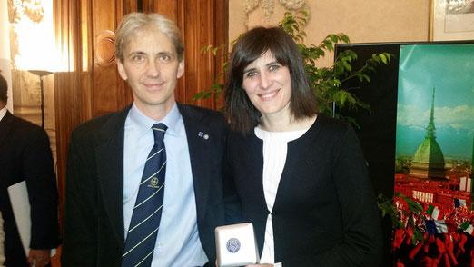Luca Gallizia Président de l'ASVA & Chiara Appendino Maire de Turin