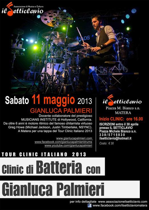 Matera - Clinic di Batteria con Gianluca Palmieri