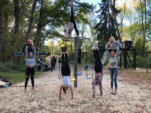 Team 2018 - Jette, Fabienne, Lena, Luisa, Benne, Luna, Nantke, Marieke (v.l)