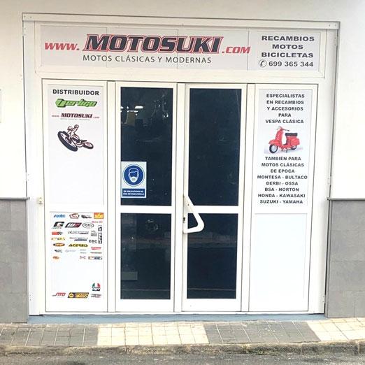 Motosuki - Tienda de repuestos y recambios en Las Palmas (Canarias)