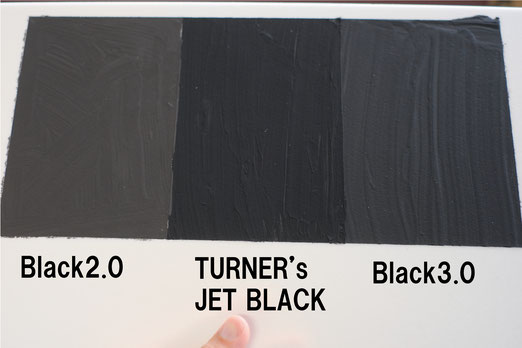 Comparison of black paint.black2.0/Turner's jetblack/black3.0
