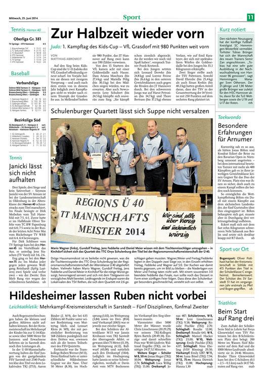 Leine-Nachrichten 25.06.14