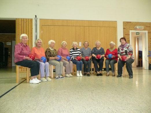Unsere Damen, Gruppe 1, unter der Leitung von Siegrid Günther