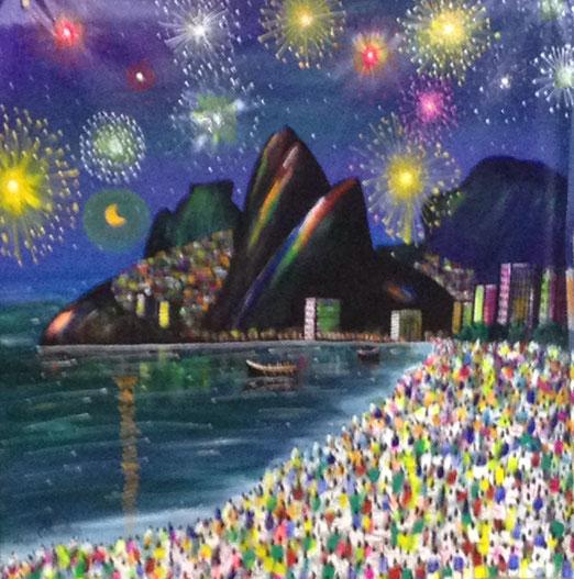 Ipanema beach, the next after Copacabana, at New Eve