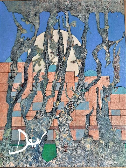 Lib 05/20 Peinture acrylique sur toile 64 x 80 cm