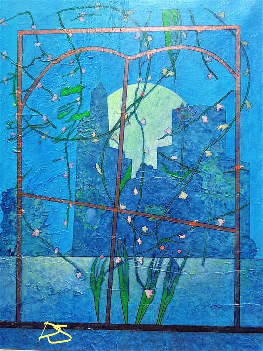 Lib 17/20  Peinture acrylique sur toile 50 x 65 cm