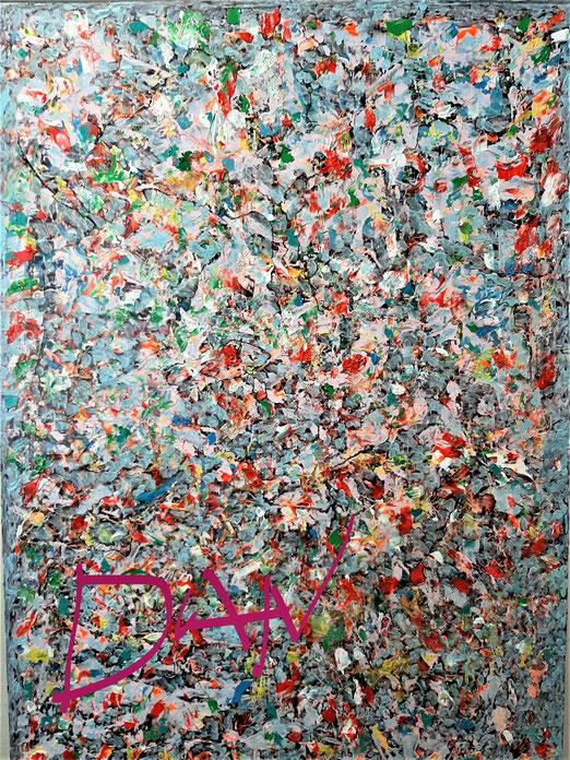 Lib 04/20 Peinture acrylique sur toile 50 x 70 cm