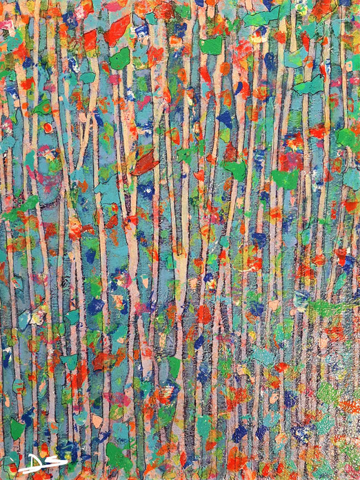 Lib 21/20 Peinture acrylique sur toile 38 x 45