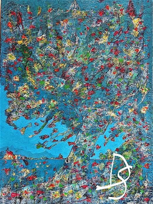 Nat 20/03 Peinture Acrylique sur toile 54 x 74 cm