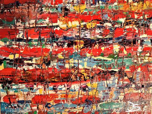 Lib 20/20  Peinture acrylique sur toile 45 x 38  cm
