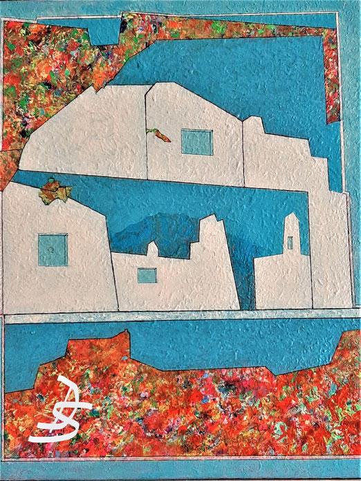 Lib 07/20 Peinture acrylique sur toile 45 x 55 cm