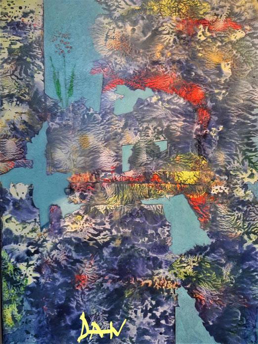 Lib 19/20 Peinture acrylique sur toile  50 x 70 cm
