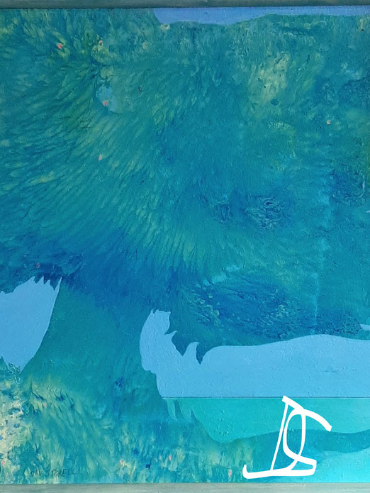 Nat 8/20 Peinture acrylique sur bois 52 x 52 cm