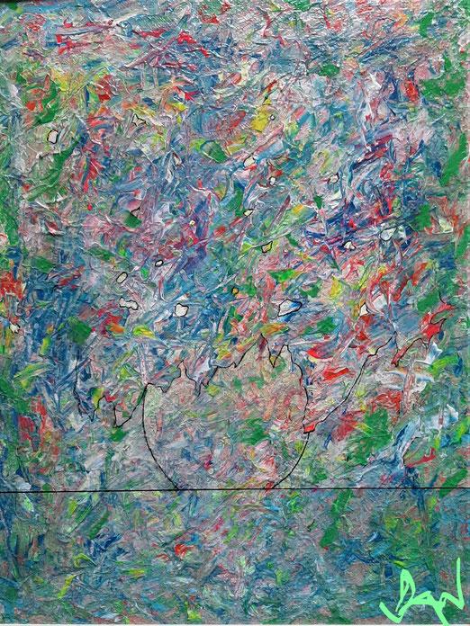 Lib 16/20 Peinture acrylique sur bois  39 x 49 cm
