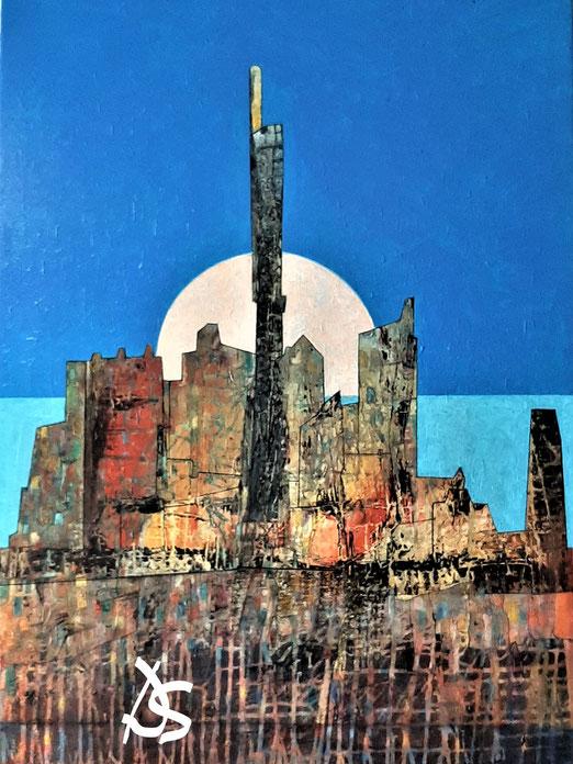 Lib 13/20 Peinture acrylique sur toile 65 x 92 cm