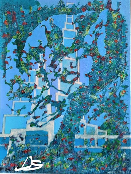 Lib 10/20 Peinture acrylique sur toile 54 x 74 cm